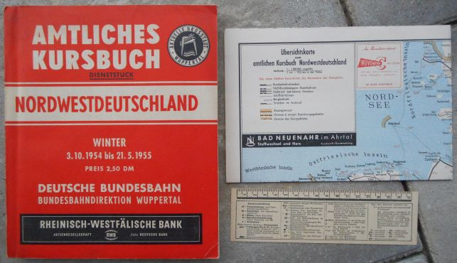 Kursbuch Winter 1954/55