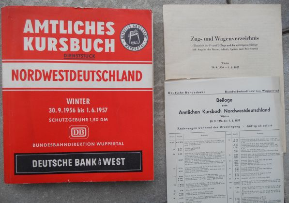 Kursbuch Winter 1956/57